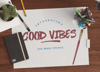 Free Typographic Good Vibes Brush Typeface
