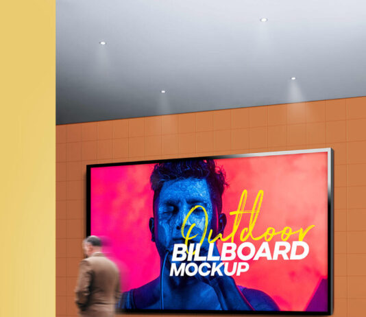 Free Villainous Outdoor Billboard Mockup PSD Template