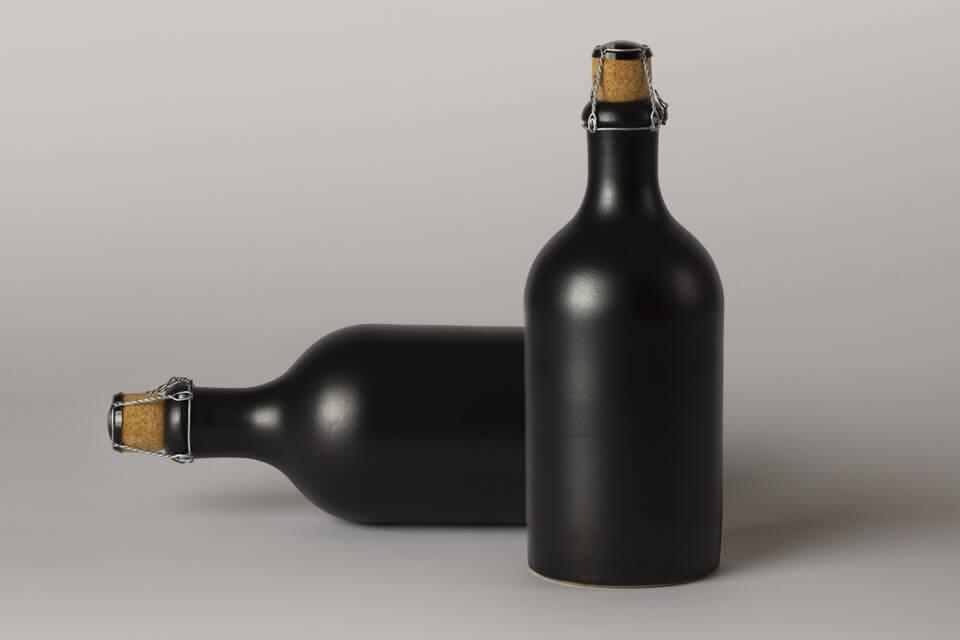 Free Vintage Dark Liquor Bottle Mockup PSD Template5