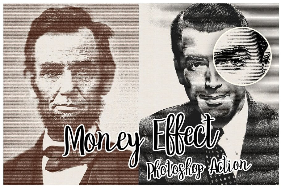 Money Engraving Photoshop Action