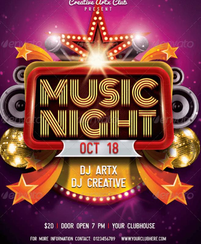 Music Night Flyer (1)