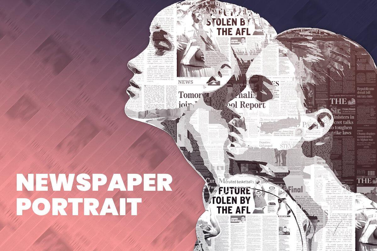 Newspaper Portrait PS Action