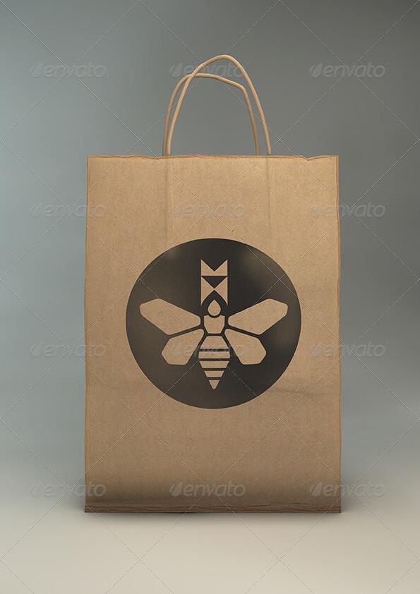 Paper Gift Bag Mock-Up Eco Gift Bag Mockup