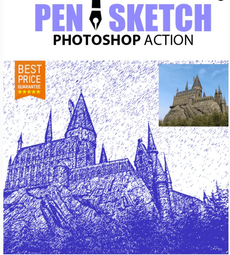 Pen Sketch Photoshop Action4