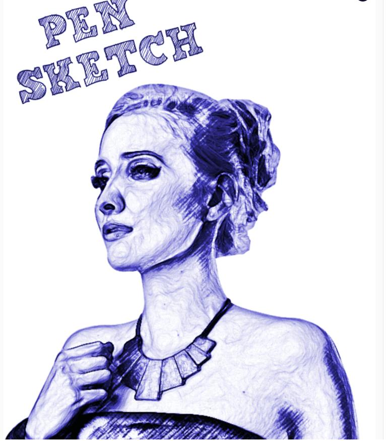 Pen Sketch Photoshop Action5