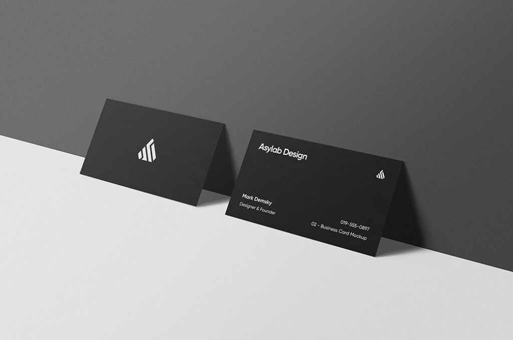 Free Premium Business Card Mockups PSD Templates
