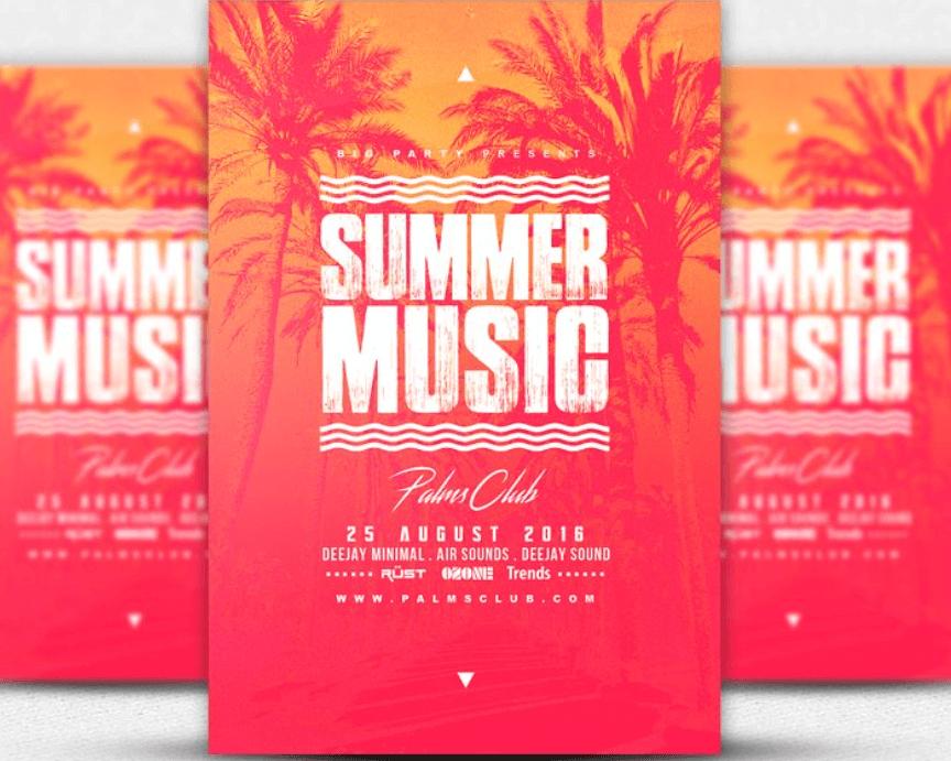 SUMMER MUSIC Flyer Template