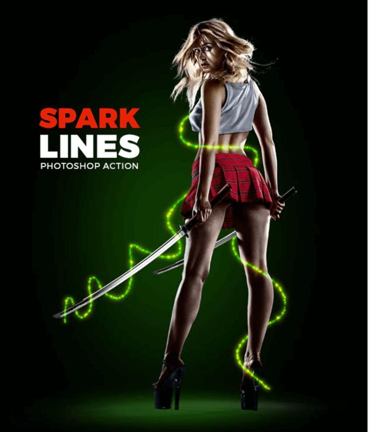 Spark Lines Photoshop Action