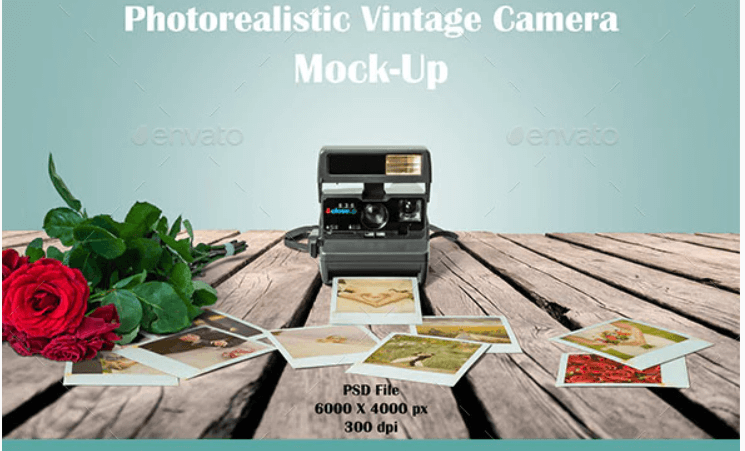 Vintage Camera Mockup