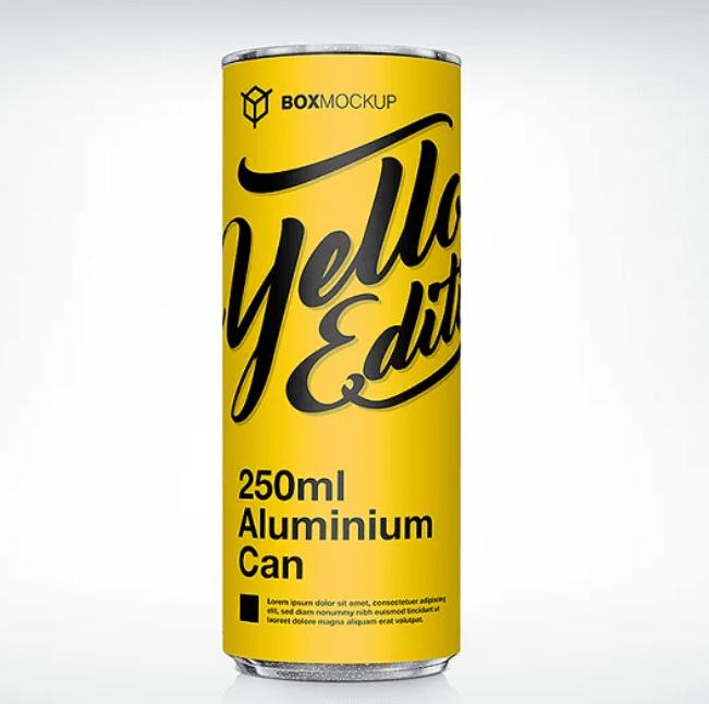 250ml Aluminum Can Mockup