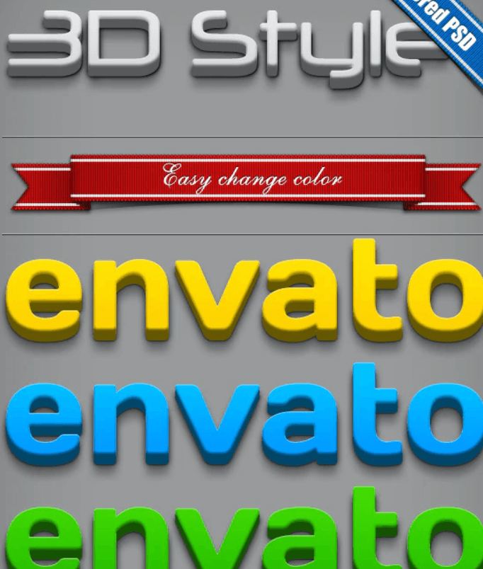 3D Text Style1