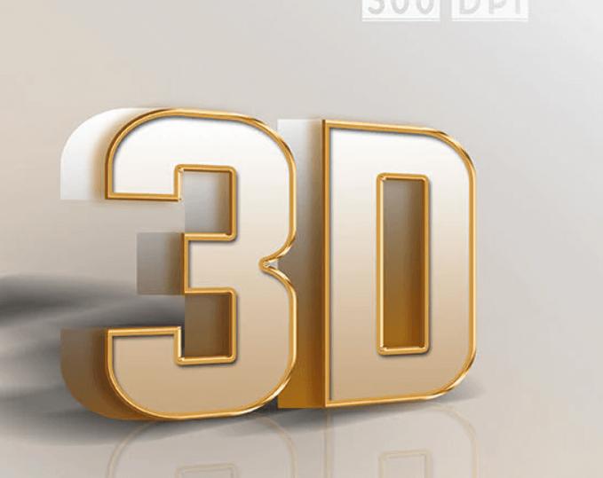 3D Text Styles Vertical