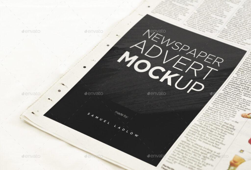 6 Newspaper Advert Mockups (1)