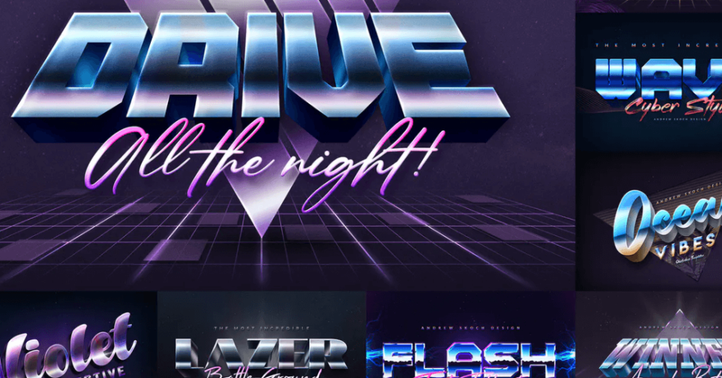 80s Style Text Effects