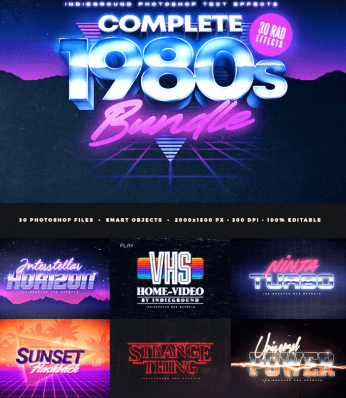 80s Text Effects Complete Bundle1