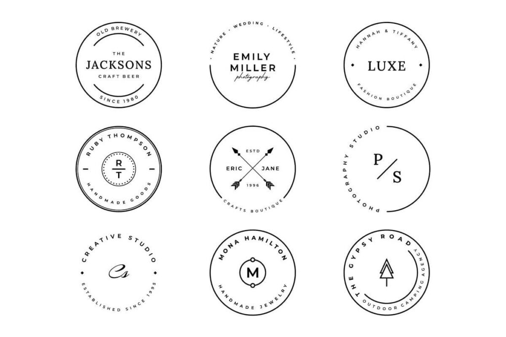 9 Stamp Logo Collection