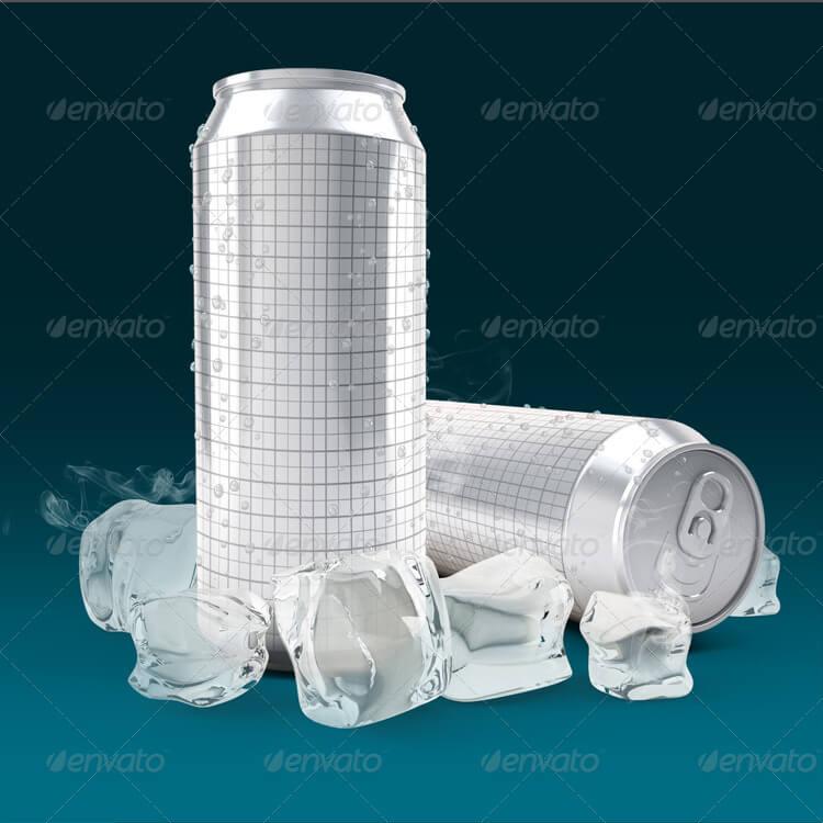 Aluminium Cans 3d mock-up (1)