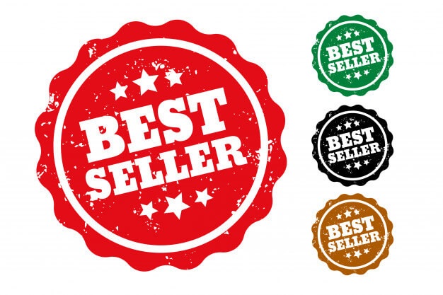 Best seller rubber stamps set of four Free Vector