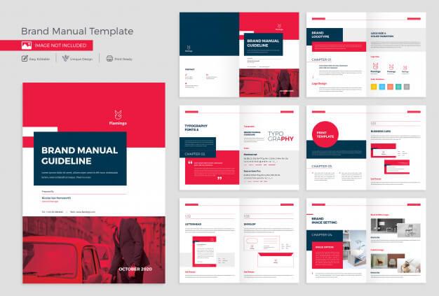 Brand manual template design Premium Psd (1)