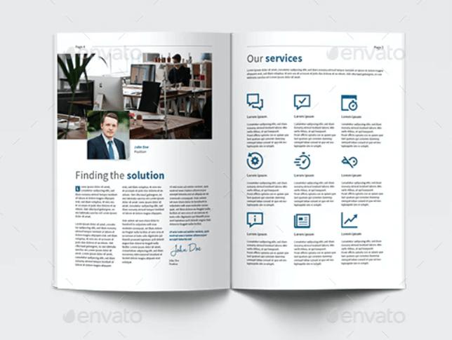 Business Brochure Portrait A4