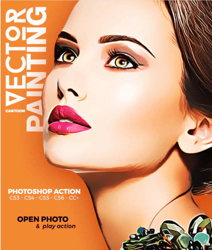 Cartoon Vector Painting Photoshop Action
