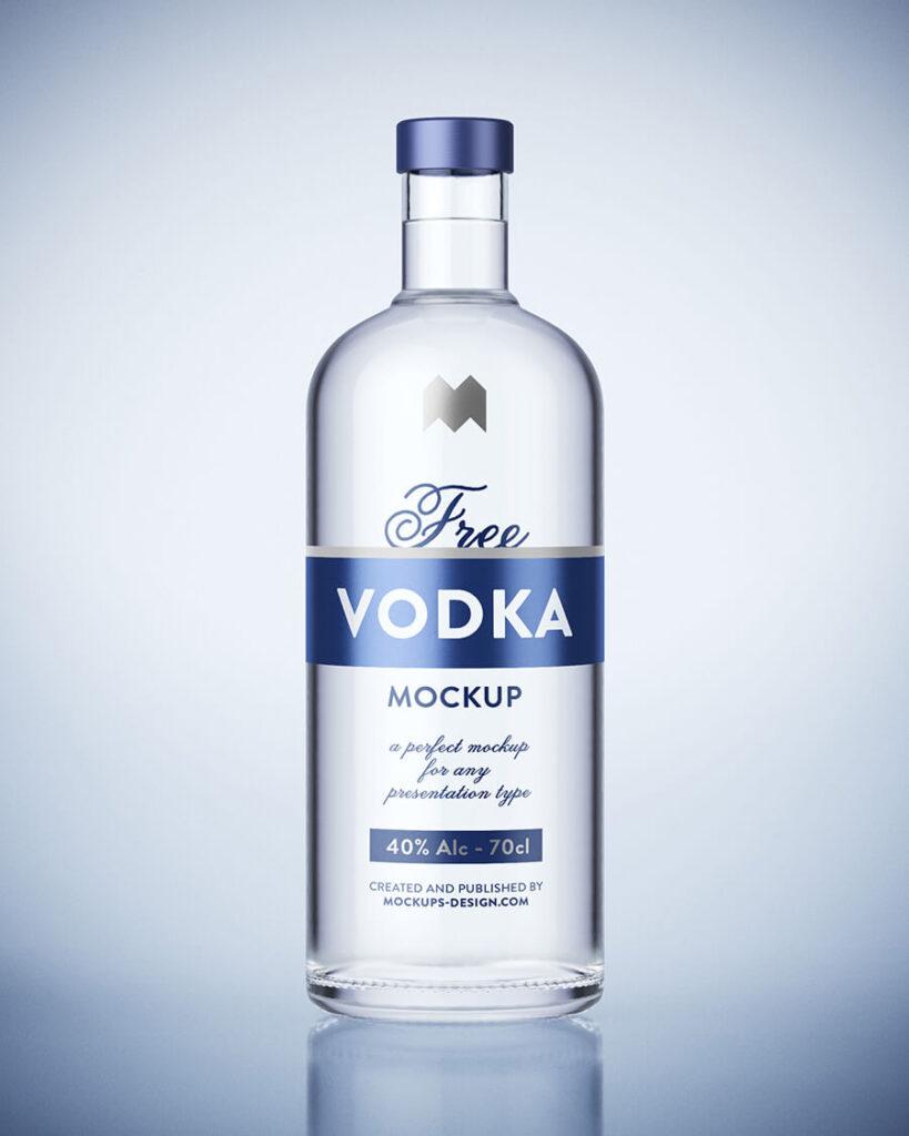 Free 3D Vodka Bottle Mockup PSD Template (1)