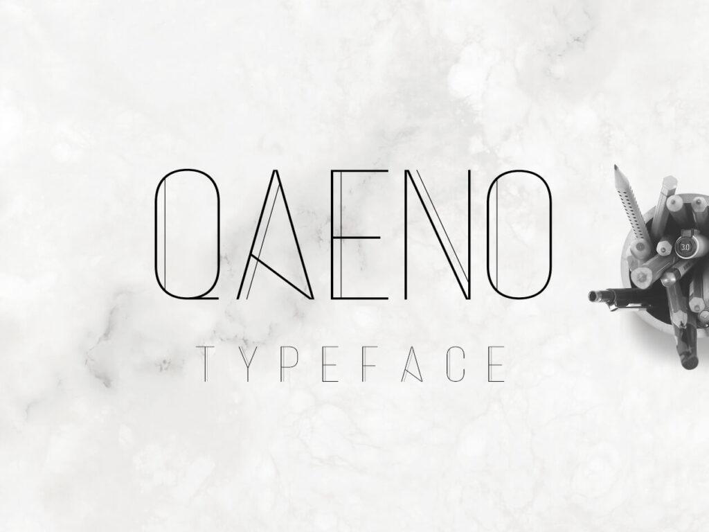 Free All Caps And Thin Qaeno Font (1)