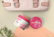 Free Astonishing Cosmetic Packaging Mockup PSD Template (1)