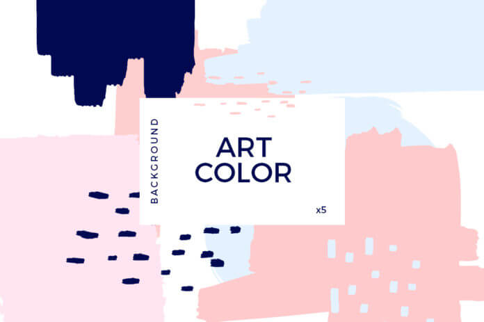 Free Beautiful Art Color Background Mockup PSD Template