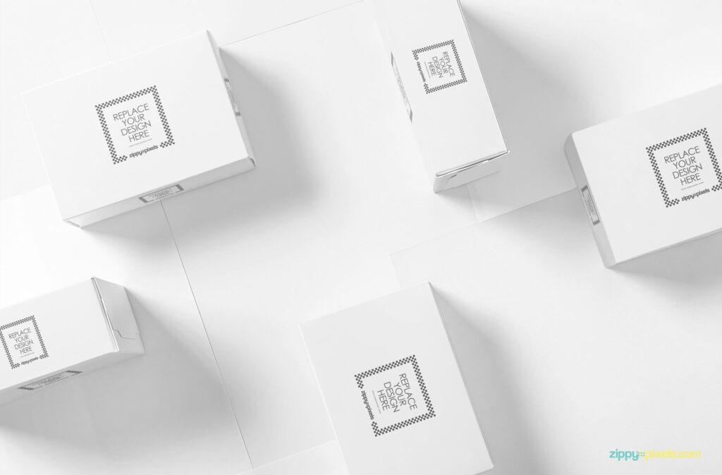Free Beautiful Packaging Box Mockup PSD Template1 (1)