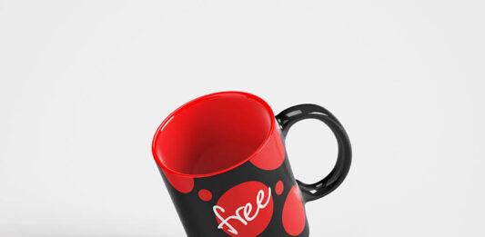 Free Black And Red Mug Mockup PSD Template (1)