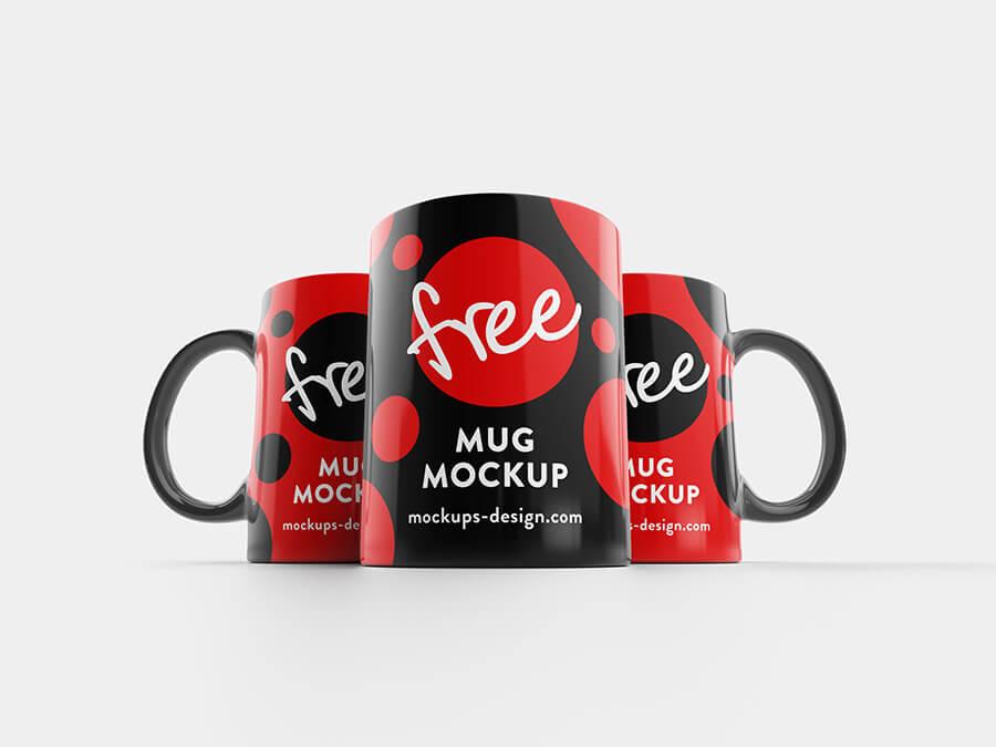 Free Black And Red Mug Mockup PSD Template2 (1)