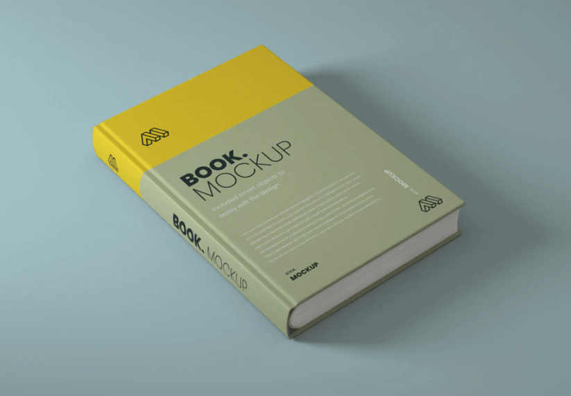 Free Brand New Side View Book Mockup PSD Template