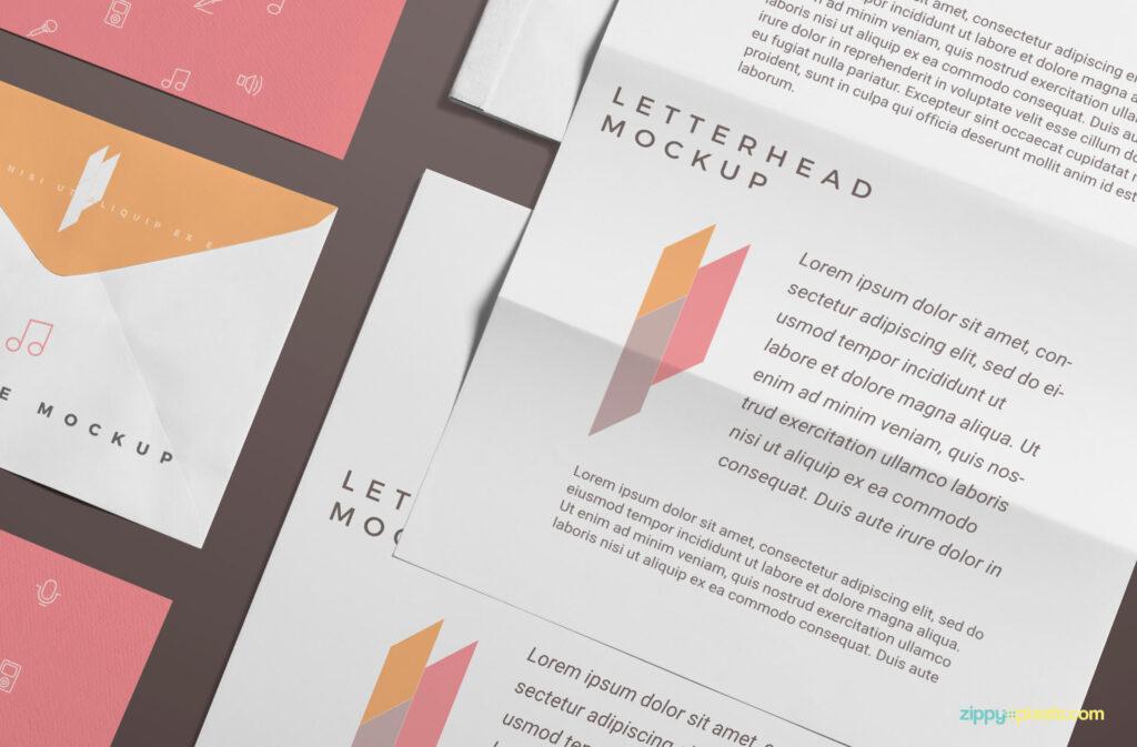Free Branding Stationery Mockup Scene Mockup PSD Template2 (1)