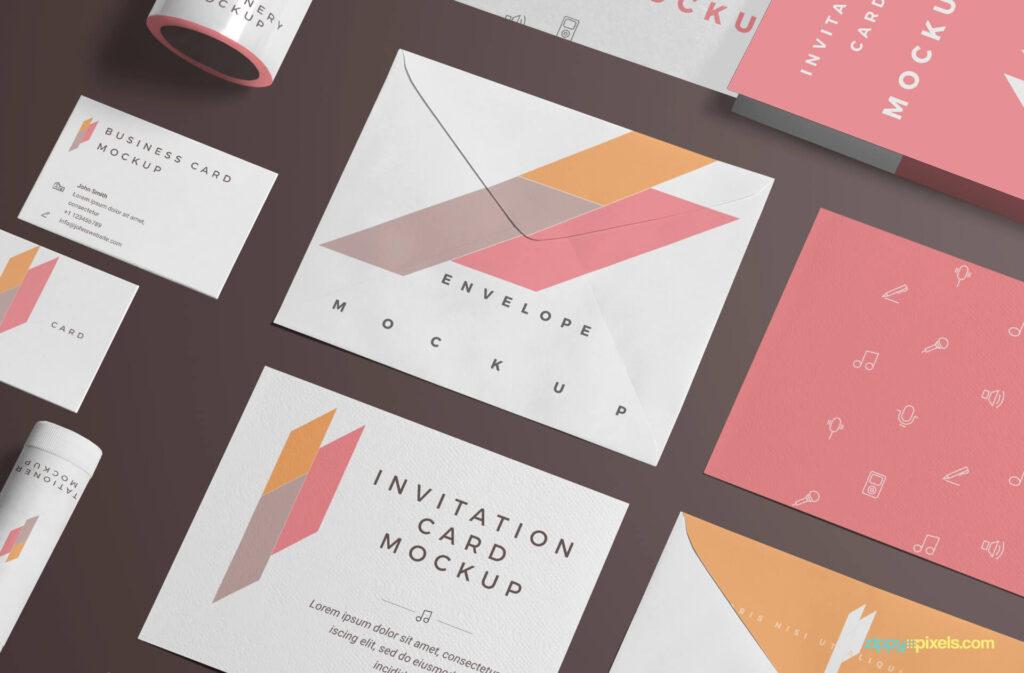 Free Branding Stationery Mockup Scene Mockup PSD Template3 (1)