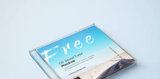 Free CD Transparent Jewel Case Mockup PSD Template (1)