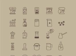 Free Café Coffee Store Vector Icon Set (1)