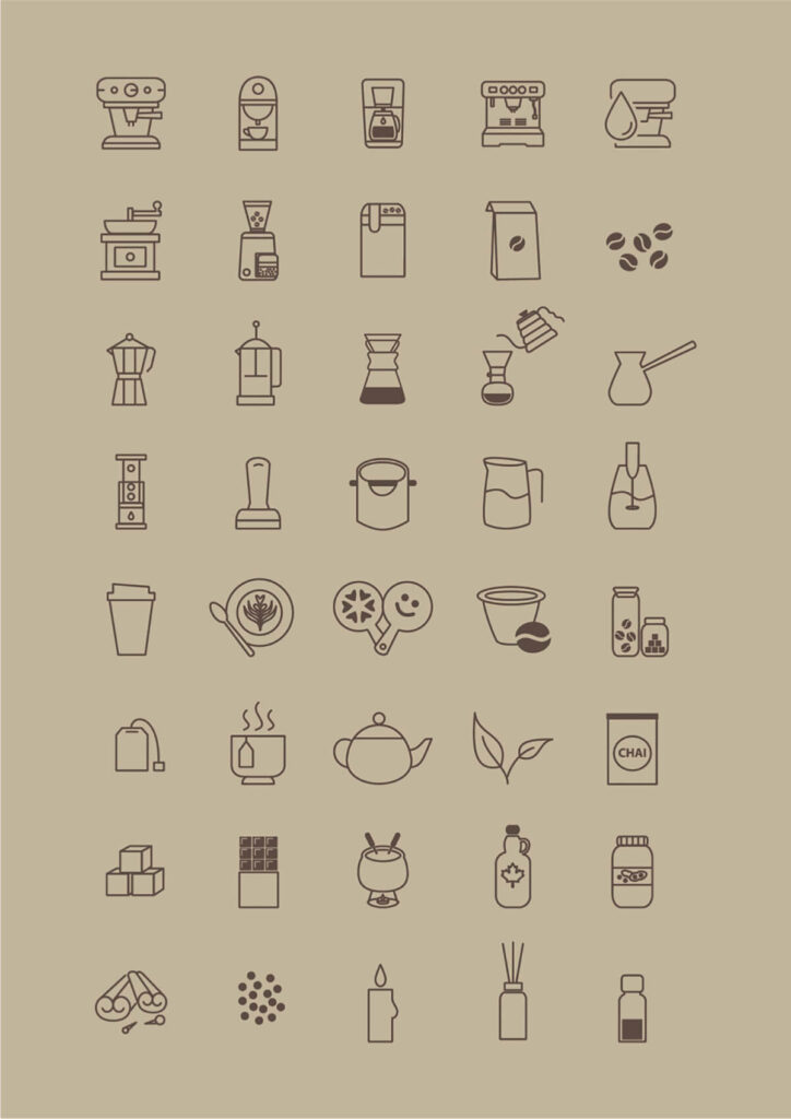 Free Café Coffee Store Vector Icon Set (1)