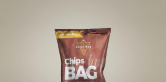 Free Chips Bag Front View Mockup PSD Template (1)