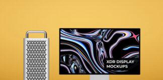 Free Customizable Apple Pro Display XDR Mockup PSD Template (1)