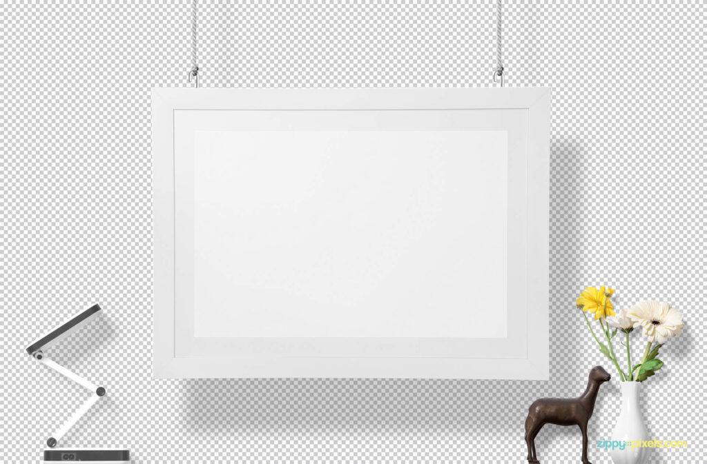 Free Decorative Gorgeous Wall Frame Mockup PSD Template1 (1)
