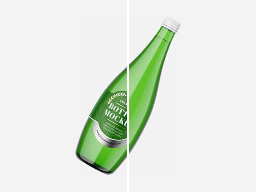 Free Designable Glass Bottle Mockups Set PSD Template2 (1)