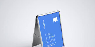 Free Editable A-Stand Mockup PSD Template (1)