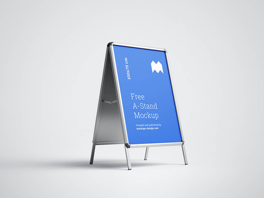 Free Editable A-Stand Mockup PSD Template1 (1)