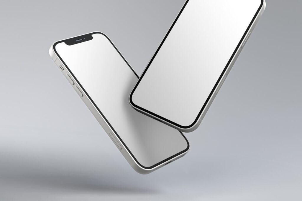 Free Elegant And Simple Gravity iphone 12 Mockup PSD Template3 (1)