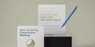 Free Elegant Basic Stationery Branding Mockup PSD Template (1)