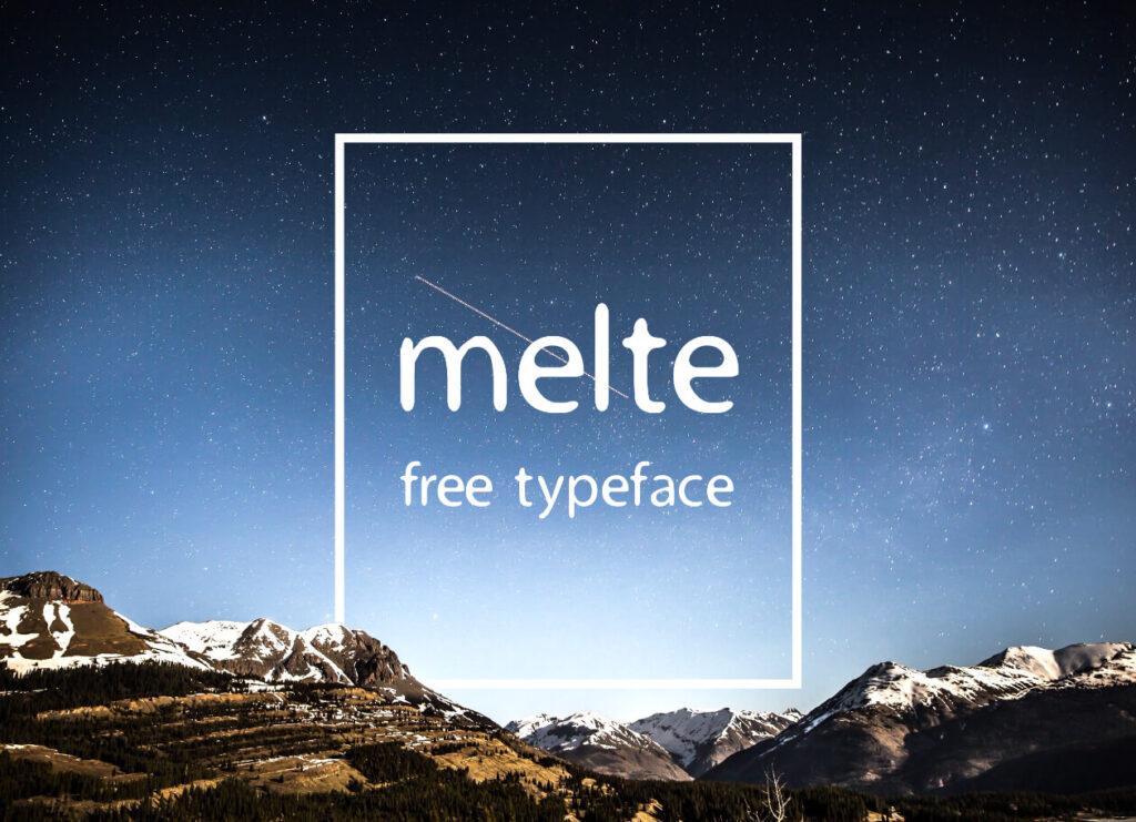 Free Elegant Melte Display Font (1)