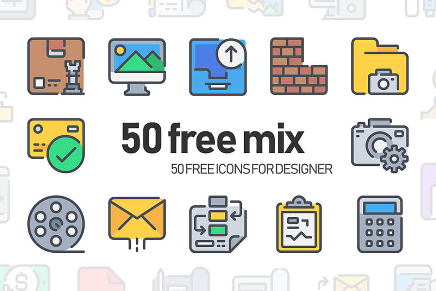 Free Essential 50 Mix Simple Line Vector Icons (1)