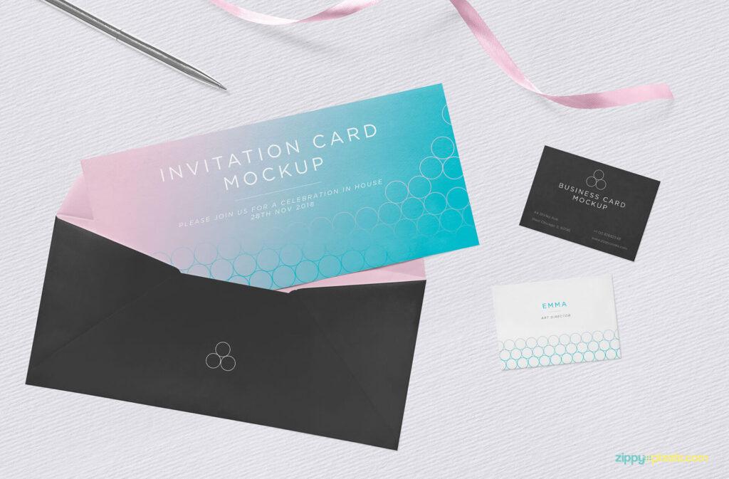 Free Flawless Invitation Mockup PSD Template (1)