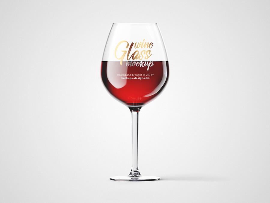 Free Fresh Wine Glass Mockup PSD Template (1)